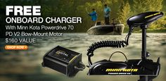 Free Onboard Charger With Minn Kota Powerdrive 70 PD V2 Bow-Mount Motor - Fishing http://www.minn-kota.com/shop/minn-kota-ulterra/minn-kota-1358902-ulterra-trolling-motor-with-us2-and-i-pilot-80-pound45-inch24v/