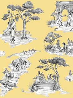 wall paper & fabric by Shelia Bridges
