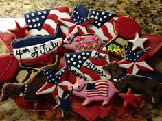 4th Of July, Sugar, Cookies, Desserts, Food, Biscuits, Meal, Independence Day, Deserts