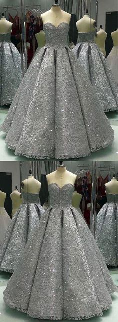 Fashion Tips Diy Shiny gray lace sequins long prom gown evening dress.Fashion Tips Diy Shiny gray lace sequins long prom gown evening dress Winter Prom Dresses, Grey Prom Dress, Sequin Prom Dresses, Unique Prom Dresses, Long Prom Gowns, Pretty Dresses, Homecoming Dresses, Beautiful Dresses, Formal Dresses