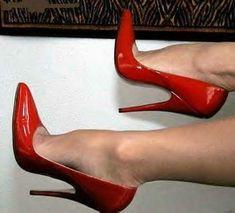 Running with Stilettos Red High Heels, High Heels Stilettos, High Heel Boots, Womens High Heels, Sexy Heels, Stockings Heels, Nylons Heels, Extreme High Heels, Beautiful High Heels