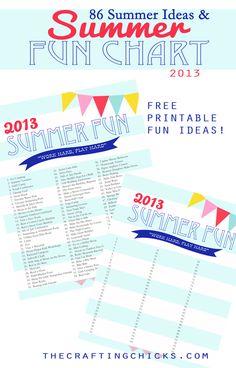 Summer Fun Chart Printable