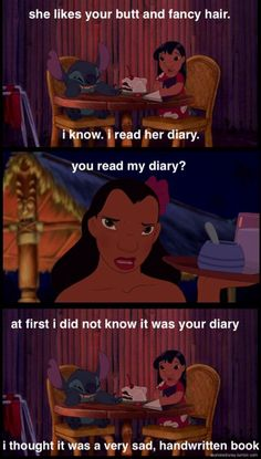 MickeyMeCrazy Disney Lilo and Stitch quote. A very sad, handwritten book.