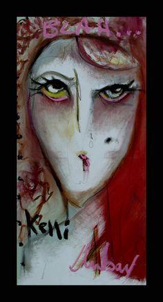 Kelli Dubay Original Fine Art Oil Painting 24x48 by Megalomaniart, $450.00