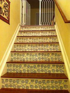 modern wallpaper for staircase design