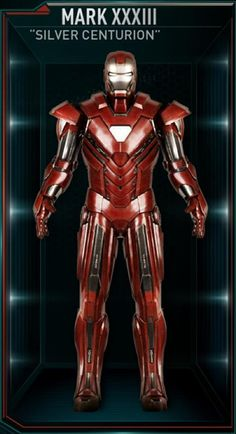 """The Mark 33 (Mark XXXIII), also known by its codename as the """"Silver Centurion"""", is an Enhanced Energy Suit, and was one of several new Iron Man Armors created..."""