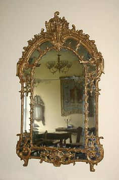 Very Fine, French, Regence period mirror 73x38 c1925