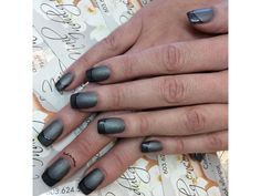 Touch of Grey Nails By Anthony French Manicures, Touch Of Gray, Gray Nails, Top Nail, Nail Tech, Grey, Beautiful, Beauty, Gray