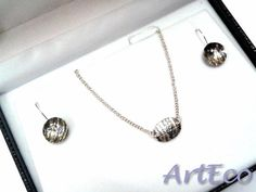 Silver Jewellery Set, oxidized | Christmas gifts for her & him. Sterling Silver Handmade Jewellery