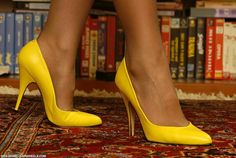 Classic Pumps Lola style in Lemon leather.  $95