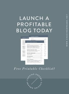 Blog Starter Kit: Everything You Need to Launch a Profitable Blog TODAY. Free downloadable checklist.