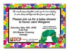 Printable Eric Carle Inspired Baby Shower Invitation For Twins