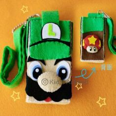 DIY felt series Super Mario Bros mobile phone case GA152 G Fabrics felt material packages