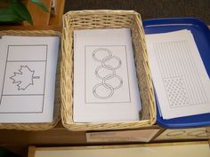 The winter olympics are coming up.  Kids can create flags on craft sticks in that represent their country and others.
