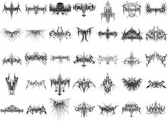Black metal logo design