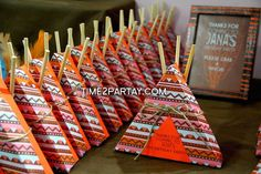 Love these teepee party favour boxes!