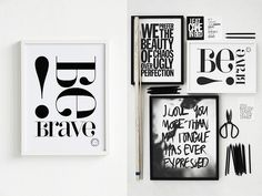 graphic black and white prints by Swedish designer Therese Sennerholt Graphic Prints, Poster Prints, Graphic Design, Source Of Inspiration, Design Inspiration, Black And White Prints, Black White, Quote Posters, Motivational Posters
