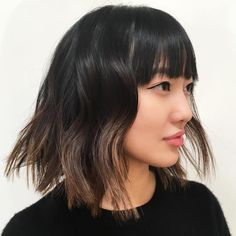 Messy+Choppy+Bob+With+Bangs