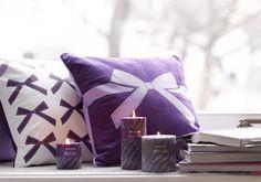riverdale - Kaars Swirl Purple Groot