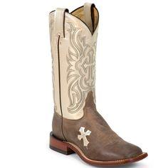 Tony Lama Womens San Saba Cross Western Boots