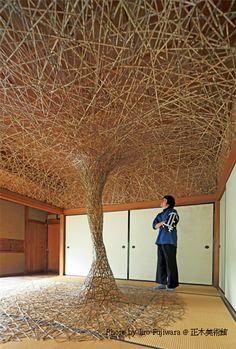 Bamboo installation by TANABE Shochiku, Japan 田辺小竹 Incredible!!!