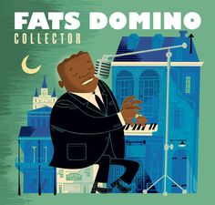 Fats Domino, Collector, CD cover. Illustration: Paul Rogers