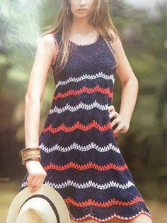 Vestido: Dress Vestidos, Dresses, Crochet Clothes, Clothing Patterns, Floral, Handmade, Fashion, Crochet Dresses, Tricot