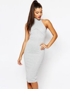 Missguided High Neck Bodycon Dress