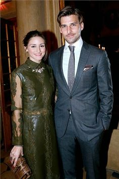 The Olivia Palermo Lookbook : Olivia Palermo with Johannes Huebl at the Cocktail Dinatoire Of German VOGUE In Honor Of Mario Testino