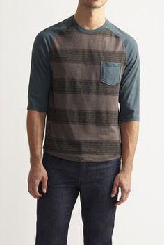 Jacquard Stripe Raglan - Retrofit - Long Sleeve Tees : JackThreads