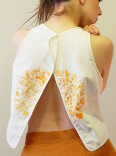 Natural fabric (%100 cotton ) Hand painting