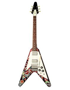 La Gibson Flying-V de Hendrix. A mi gusto, lejos la Flying V más linda.