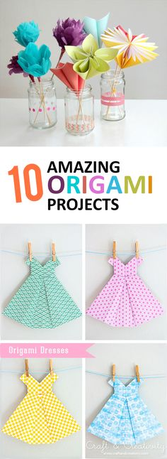 How to get children folding EASY ORIGAMI TULIPS. A great starting origami with only a few steps. Origami is a … Origami Design, Origami Diy, Origami Star Box, Origami Dress, Origami And Kirigami, Useful Origami, Origami Tutorial, Origami Paper, Diy Paper