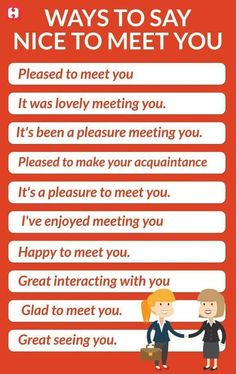 Etiquette How to greet and say nice to meet you. English Sentences, English Vocabulary Words, Learn English Words, English Idioms, English Phrases, English Study, English Lessons, English English, English Learning Spoken