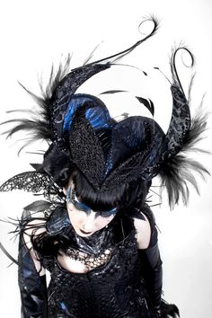 The Muscae Headpiece   The Muscae Arm Pieces  The Muscae range is inspired by the textures, colours and sculptural forms of the fly insect.