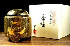 japanese incense burner ceramics - incense burner - ceramics japanese incense burner - incense burner japanese ceramics - japanese incense by JapaVintage on Etsy