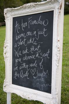 Country Wedding Ceremony Sign