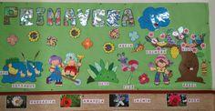 El mural de las estaciones es un marco ideal para que los niños vayan aprendiendo y conociendo los cambios que se producen en la naturalez...