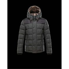 2015 New! Moncler GUYENNE Featured Down Jackets Mens Gray