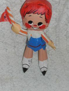 Vintage 1964 Japan Alvimar New York World's Fair Wendy Doll Inflatible