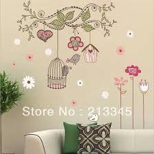 pared pintada jaula pajaros mariposa - Cerca amb Google