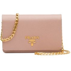 Prada Saffiano Lux Crossbody Bag (£1,010) ❤ liked on Polyvore featuring bags, handbags, shoulder bags, clutches, blush, saffiano leather handbags, flap purse, crossbody flap purse, beige handbags and beige purse