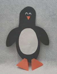 Footprint Penguin.   Bigger kids (or adults) cut & decorate for the little ones.   The body of the penguin is made by tracing their foot, make one every year, or alternate with reindeer footprints, see that pin for picture.   Decorate w/whatever you have, cut out felt or construction paper feet, eyes, etc.