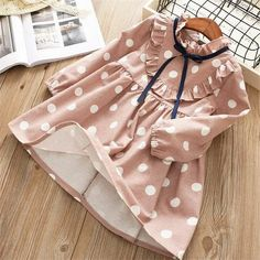 girl dress spring cartoon casual full sleeves Dot kid children girls clothing princess dress - Baby clothing boy, Baby clothing girl, Gender neutral and baby clothing Dresses Kids Girl, Kids Outfits, Baby Outfits, Baby Girl Fashion, Kids Fashion, Cheap Fashion, Easy Sew Dress, Baby Girl Princess, Pink Princess