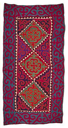 No. 2038, 1.7m x 3.35m, 1990 - unique Shyrdak felt rug