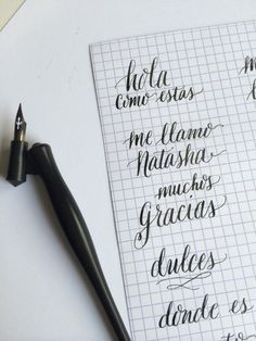 Scratch Paper Studio learns calligraphy and shares her takeaways.