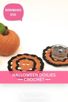 This free Halloween crochet pattern is the ideal decoration for this year's Halloween party. They make for a spooky coaster or table mat for all your ghoulish food! | Downloadable PDF at LoveCrafts.com Halloween Crochet Patterns, Christmas Knitting Patterns, Halloween Crafts, Halloween Party, Trick Or Treat Costume, Baby Scarf, Universal Yarn, Plymouth Yarn, Cascade Yarn