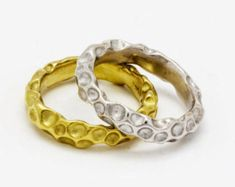 Wedding ring,Stacking gold bands,18k gold ring,14k white gold ring, Bridal set,Hammered ring, Solid gold band,Stackable rings, Eternity ring