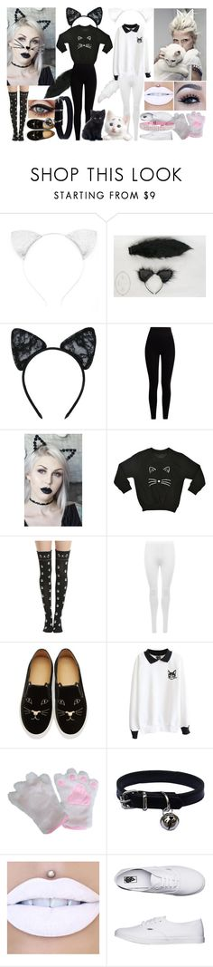 """Kittens <3 contest 3"" by xxteenage-dirtbagxx ❤ liked on Polyvore featuring Maison Close, Pepper & Mayne, Lulu in the Sky, Hot Topic, WearAll, Charlotte Olympia, Jeffree Star and Vans"