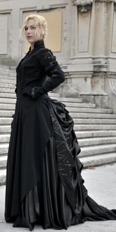 Victorian Gown - Tecnical Shot by LilywhiteBlack.deviantart.com on @deviantART
